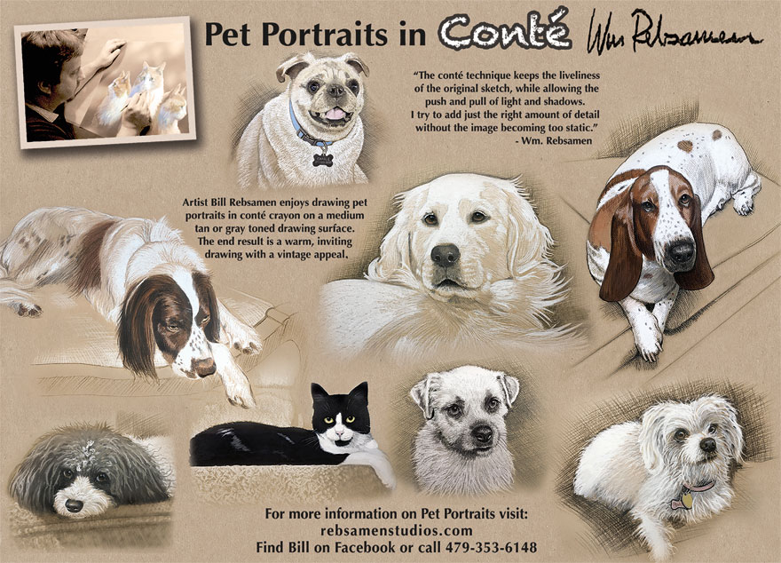 Bill Rebsamen Pet Portraits Art Studio